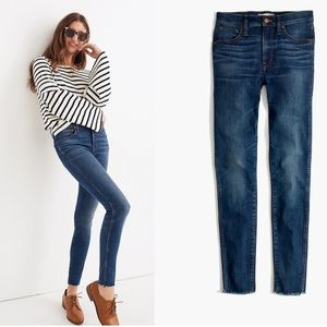 """Madewell 9"""" High Rise Skinny Jeans Blue Size 27"""